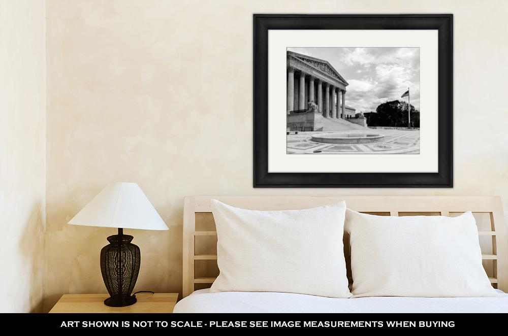 Framed Print, Supreme Court Building Washington D C United States Of America