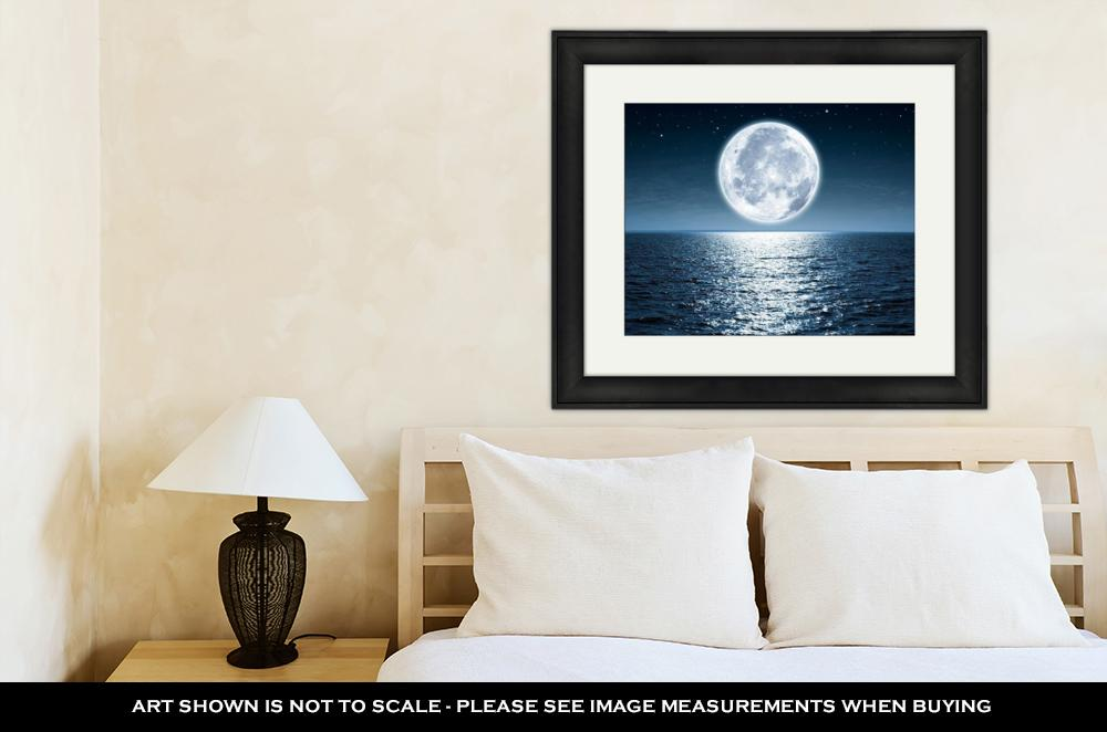 Framed Print, Full Moon