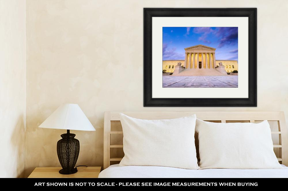 Framed Print, United States Supreme Court Building In Washington Dc USA