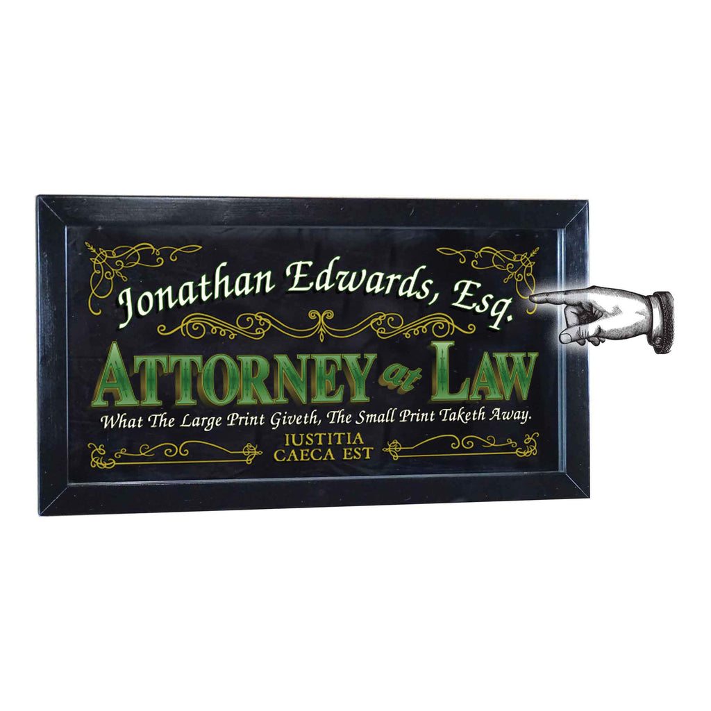 Attorney at Law Mirror - Item #4205
