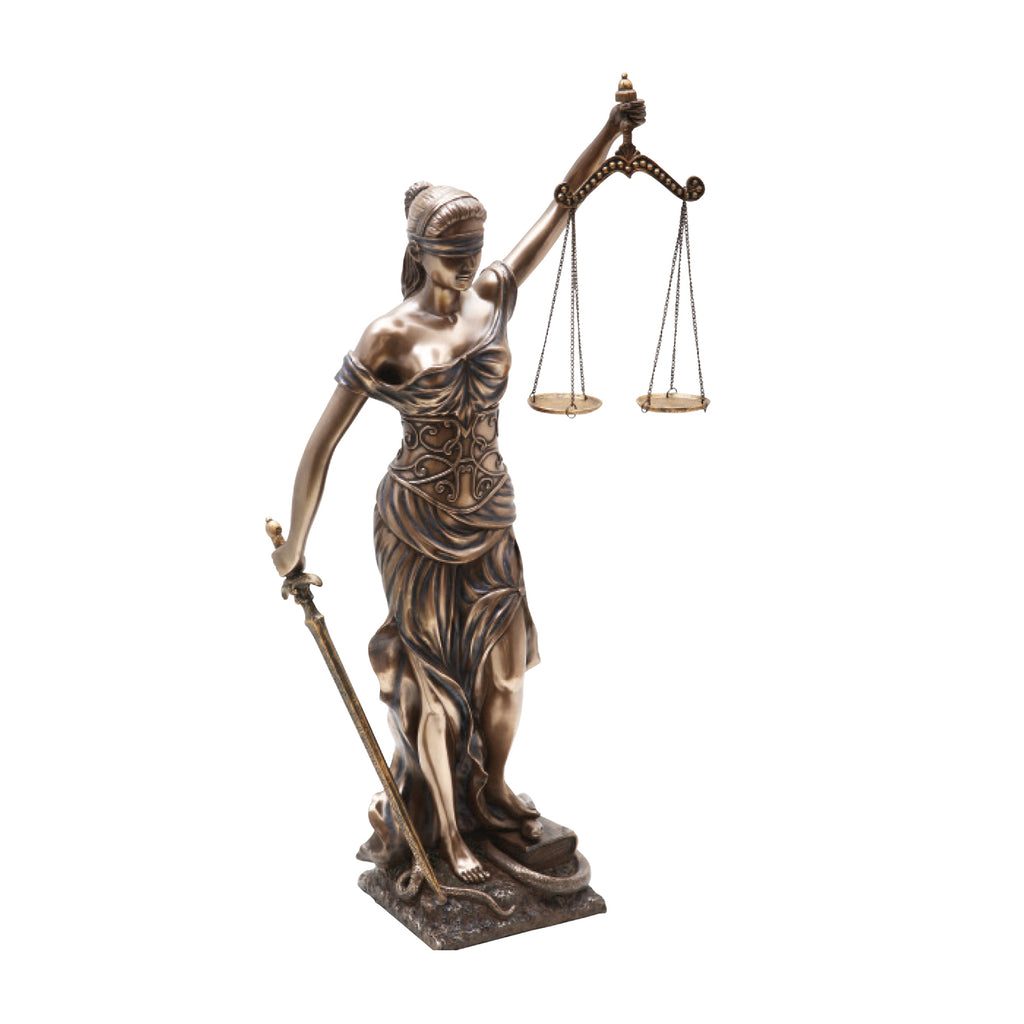 "Lady of Justice 18""- Bronzed Resin Item #8955"