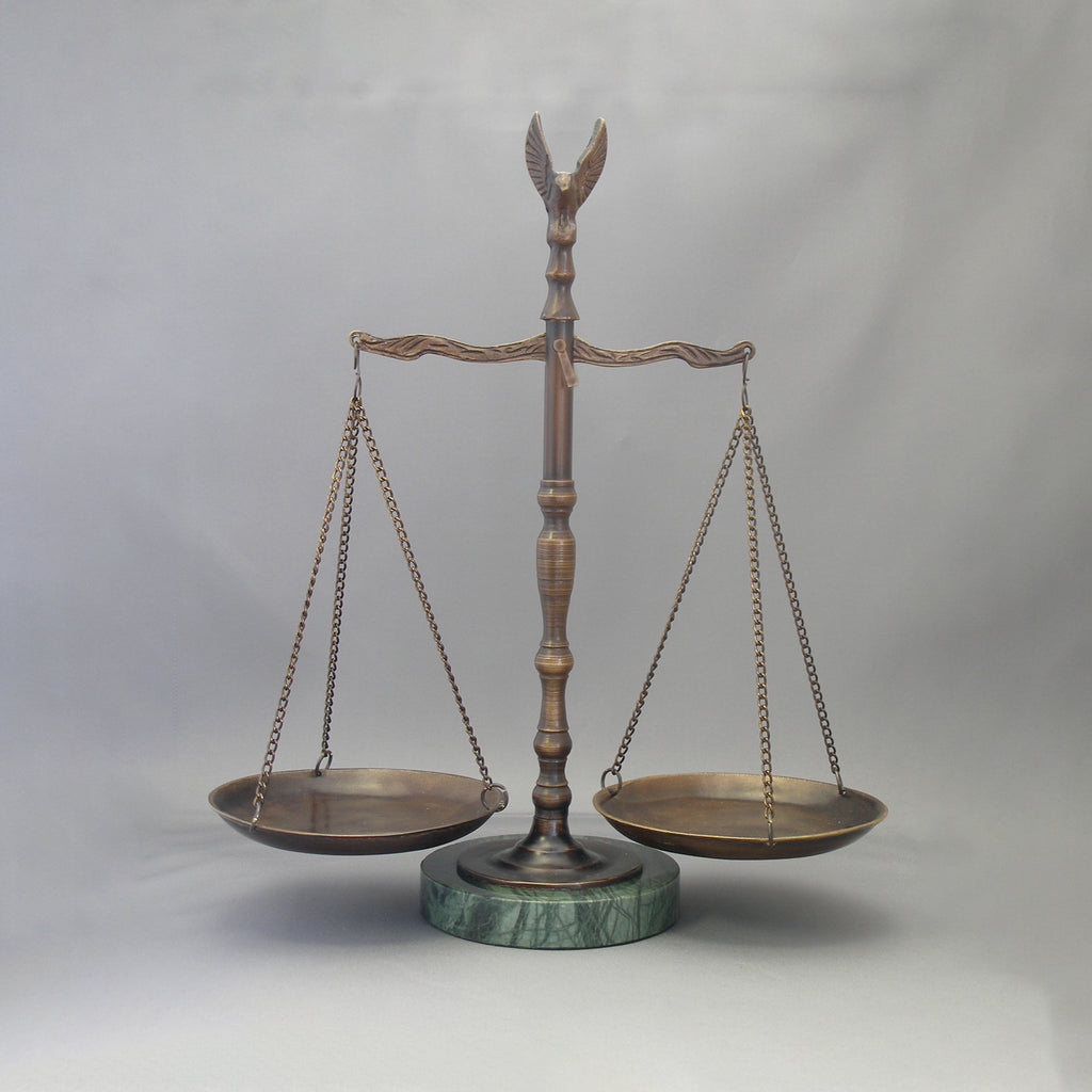 "12 1/2"" Scales of Justice with Marble Base - Item #1705"