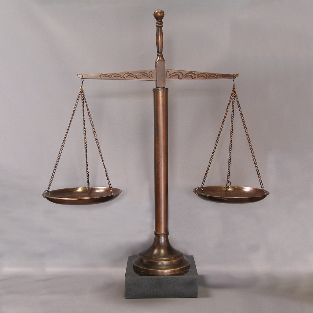 "16"" Scales of Justice with Marble Base - Item #1706"