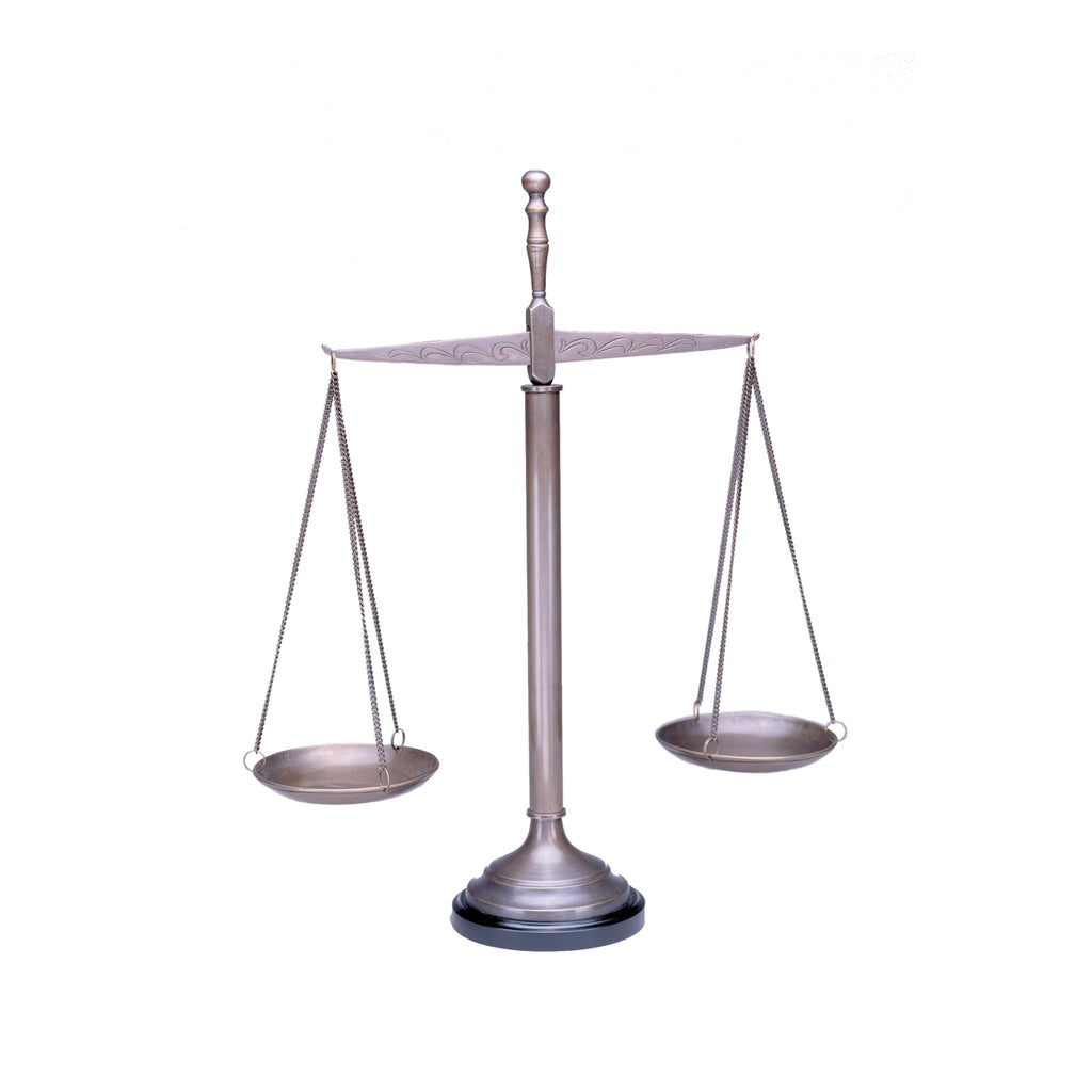 "21"" Brass Scales of Justice - Item #1704"
