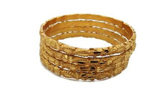 Indian 22K Gold Plated Fashion Daily Wear Thick 4 Ps Bangle High Quality Jewelry