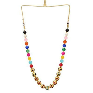 Indian Bollywood Traditional Faux Pearls Multi-color Necklace Fashion Jewelry