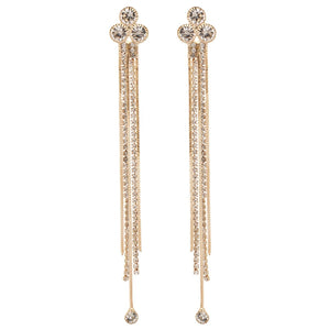Indian Chandelier CZ  Bollywood Fashion Jewelry Earrings Gold Plated Party Wear