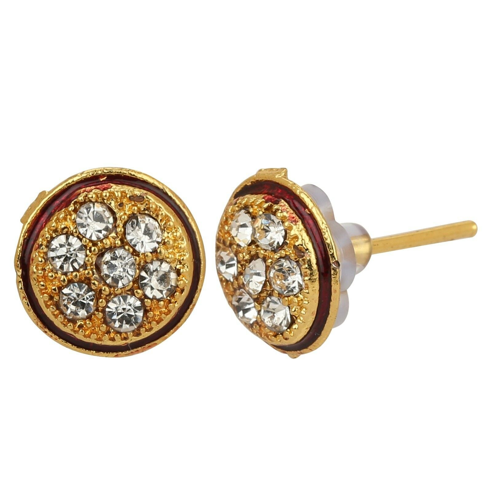 Indian Traditional Gold Plated Stud Earrings Jewelry Women Wedding Jhumka Jhumki