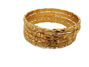 Indian Fashion Daily Wear 22K Gold Plated Thick 4 Ps Bangle High Quality Jewelry
