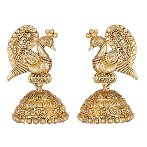 Gold Plated Earrings Bridal Wedding IndianTraditional Peacock  Fashion Jewelry