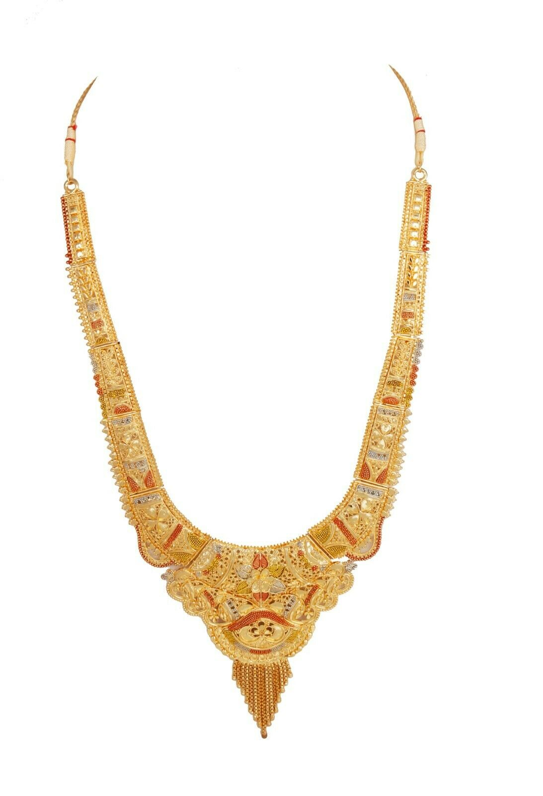 Indian 22 K Gold Plated Jewelry Bollywood Wedding  Necklace Earrings Set