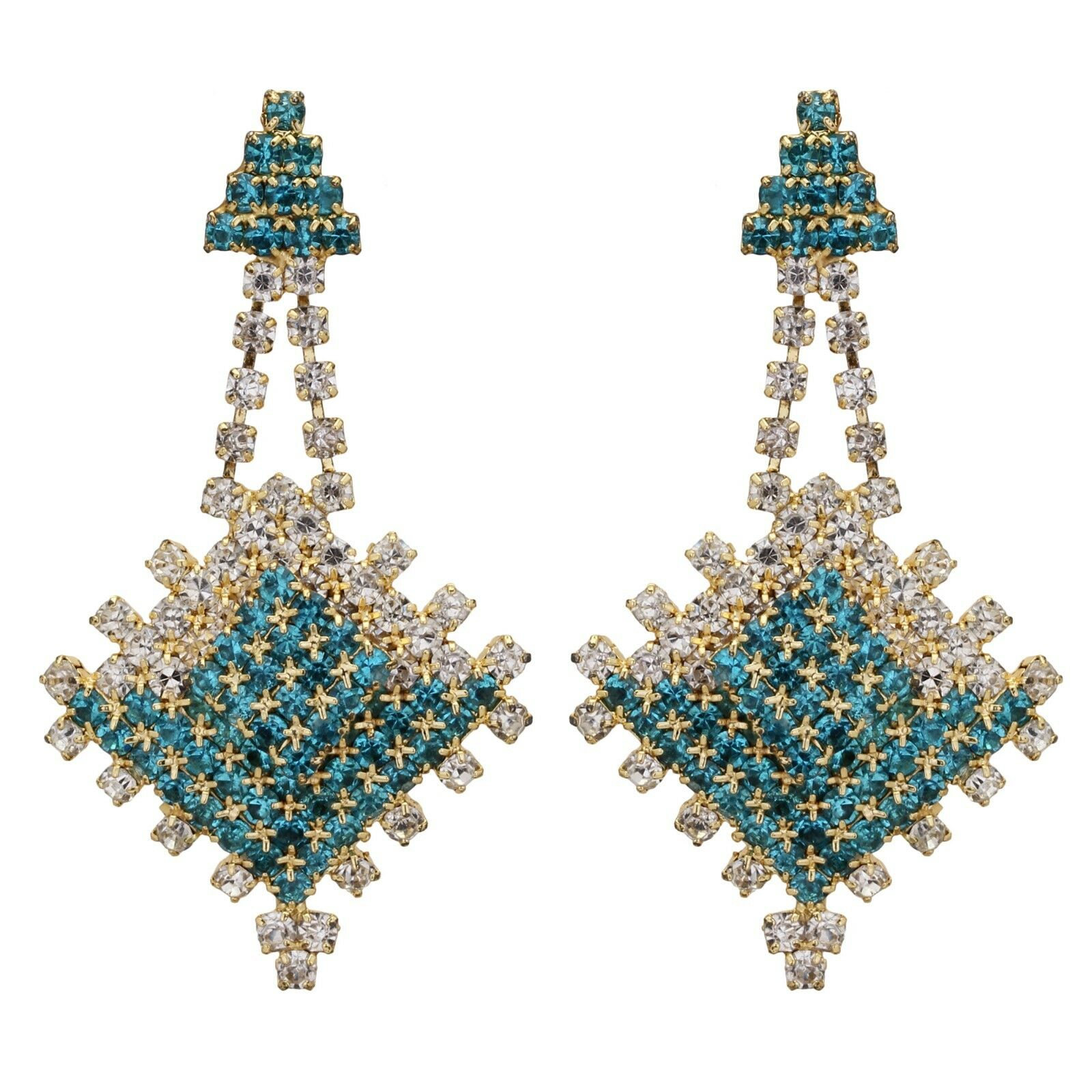 Bollywood Bridal Blue CZ  Necklace Sets Indian Bollywood Women Jewelry