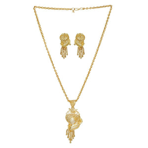 22k Gold Plated South Indian Necklace/Chain Pendant Set Bridal Jewelry