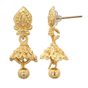 Indian Ethnic Bridal Gold Plated 2.5cm Jhumki Jhumka Drop Bollywood Earrings