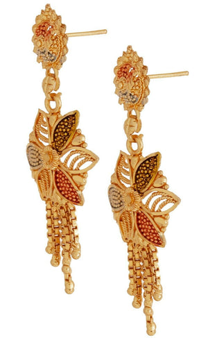 Indian Jewelry Bollywood Wedding Gold Plated Necklace Earrings Set