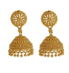 22k Gold Plated Fashion Earrings Indian Bridal Wedding Jhumka Jhumki Ethic Jewel