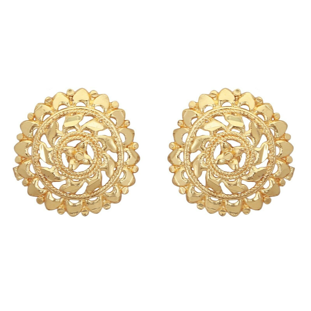 South Indian Gold Plated Stud Women Earrings Jewelry Traditional Wedding