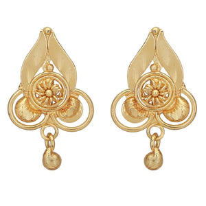 South Indian Traditional Wedding Gold Plated Stud Women Earrings Jewelry
