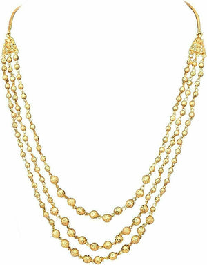 Indian 22 k Gold Plated Multi-Layer Ball Chain/Necklace Fashion Jewelry