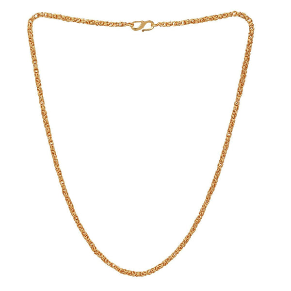 "22k Gold Plated Necklace Indian Traditional Ethnic 20"" long Unisex Chain"