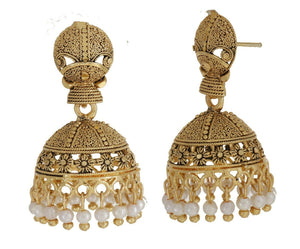 Indian Gold Plated Ethnic Earrings Designer Party Jhumka Bridal Fashion Jewelry
