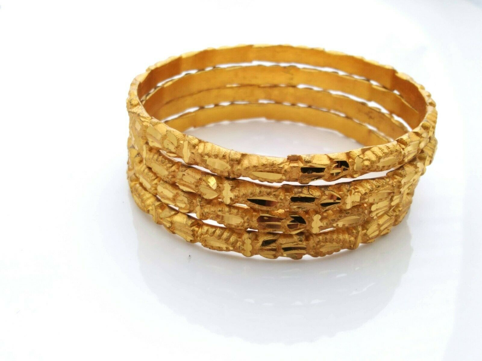 22K Gold Plated Thick 4 Ps Bangle High Quality Indian Fashion Daily Wear Jewelry