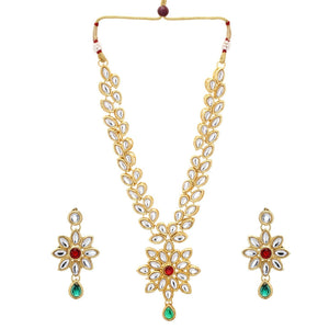 Indian Bollywood Wedding  Multi- Color Kundan Bridal Party Fashion Jewelry Set