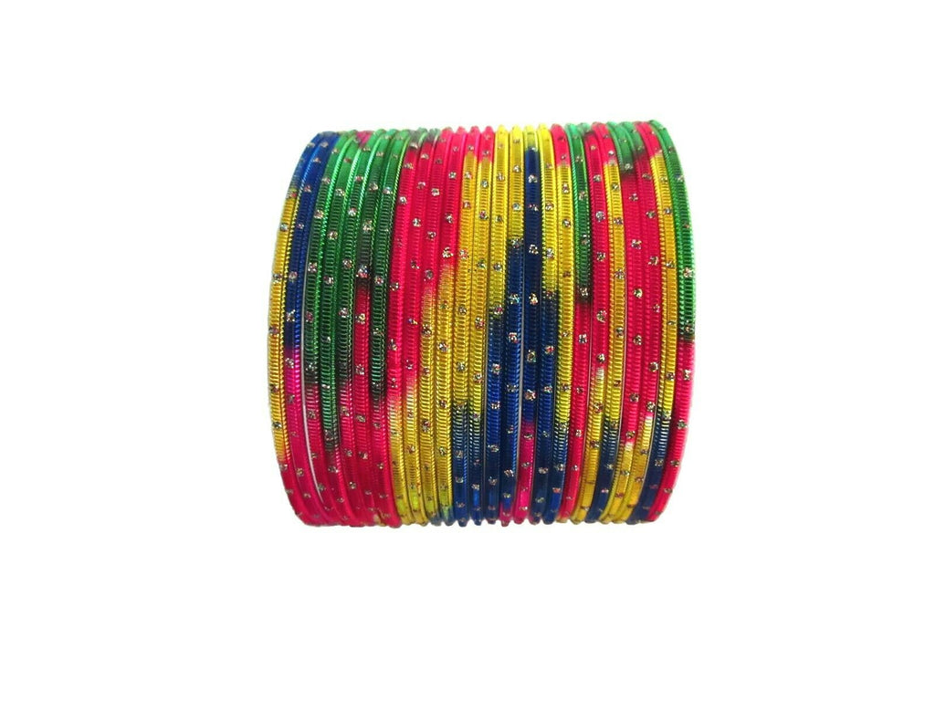 "Indian Wedding Bollywood Bangles 2.12"" Traditional Multi-Color Women Bracelets"