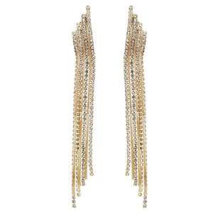 Long Chandelier Earrings Silver Gold Tone Fashion Jewelry For GirlsFree Shipping
