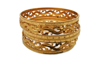 18K Gold Plated 6 Pc Bracelet Bangle Indian Women Ethnic Traditional Jewelry