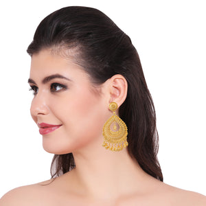 Indian Bollywood Ethnic Gold Plated Party Jhumki Jhumka Fashion Earrings