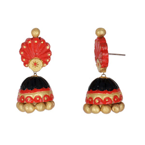 Indian Terracotta Handcrafted Vintage Red Sun Style Fashion Jewelry
