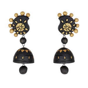 Indian Terracotta Handcrafted Vintage Black Sun Style Fashion Jewelry