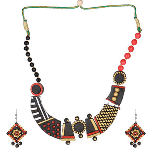 Indian Terracotta Handcrafted Vintage Classic Art Style Fashion Jewelry
