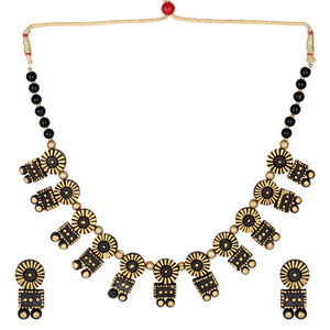 Indian Terracotta Handcrafted Wide Neclace Style Fashion Jewelry