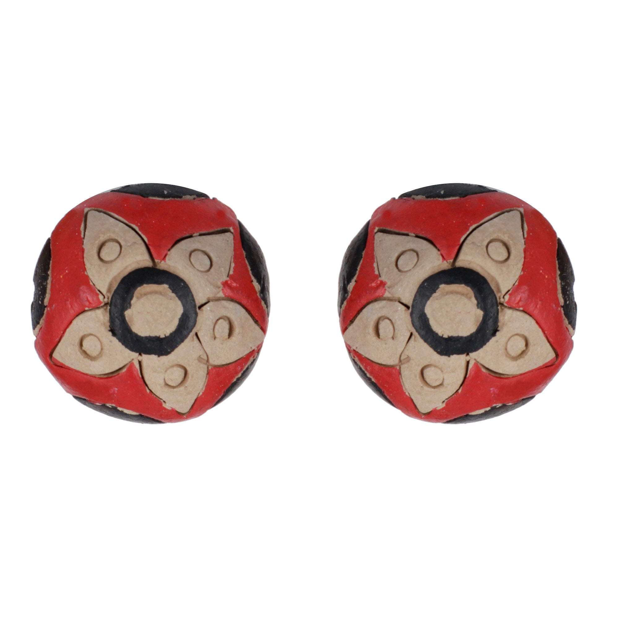 Indian Terracotta Handcrafted Traditional Red Style Earing