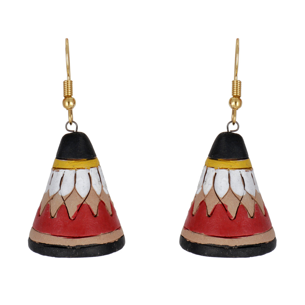 Indian Terracotta Handcrafted Traditional Black Cap Style Earing