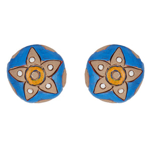 Indian Terracotta Handcrafted Traditional Blue Style Earing