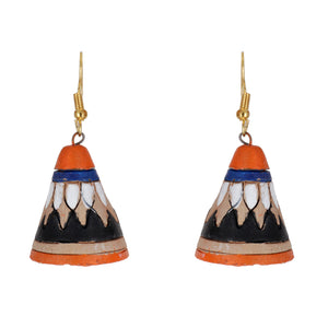 Indian Terracotta Handcrafted Traditional Cap Style Earing