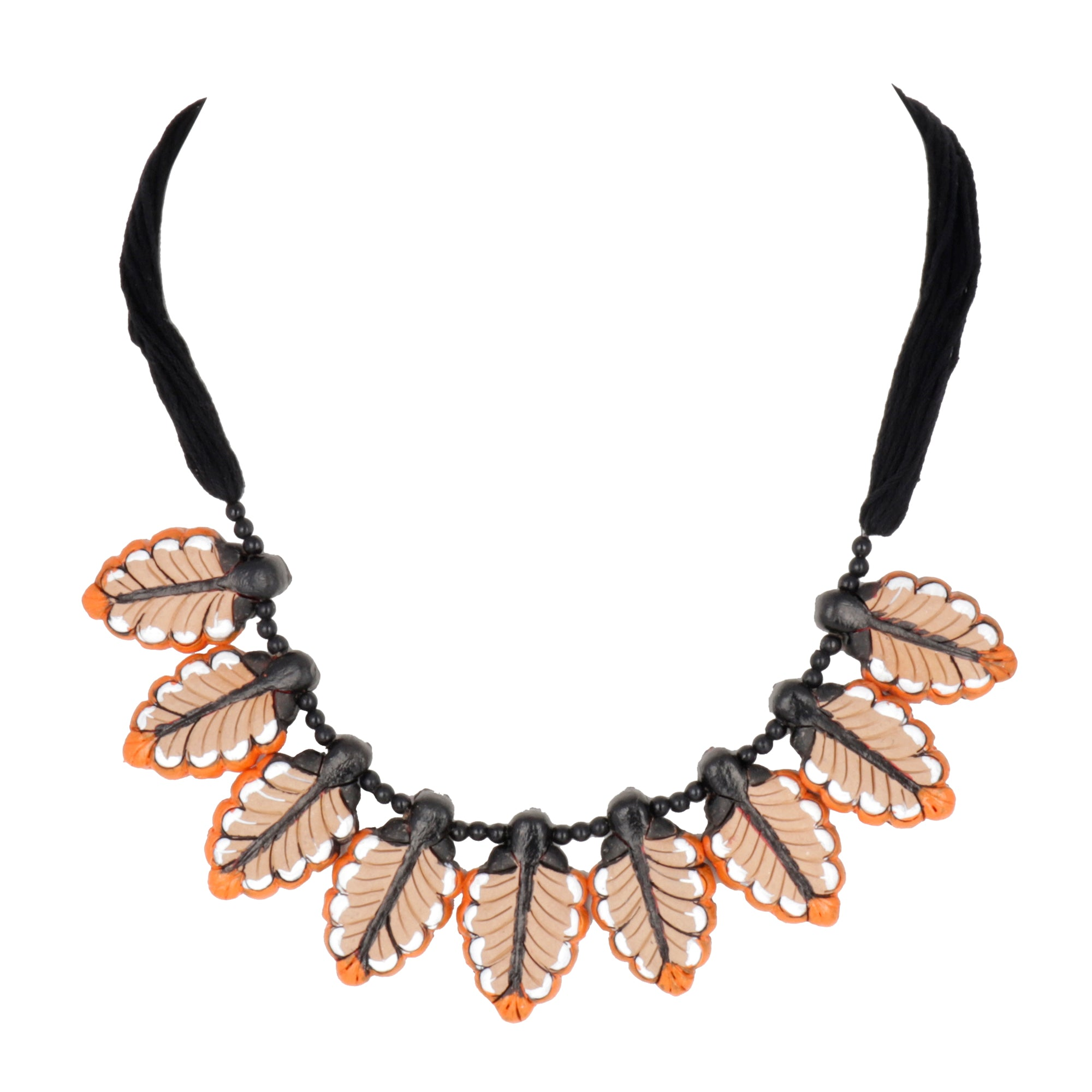 Indian Terracotta Handcrafted Vintage modern leaves Boho Antique Fashion Jewelry Set