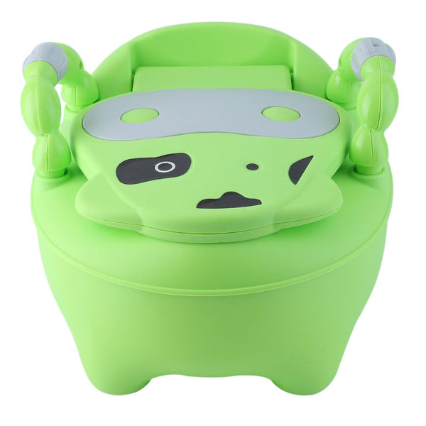 Large green potty chair