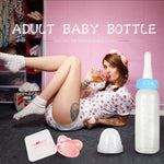 4 Colors ABDL & DDLG Milk Bottles (240ML)  Little Space + Pacifier Combo
