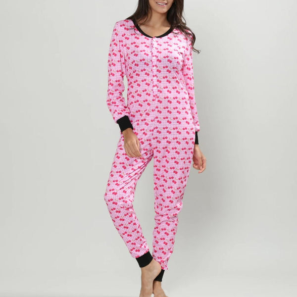 Pink cartoon full body suit