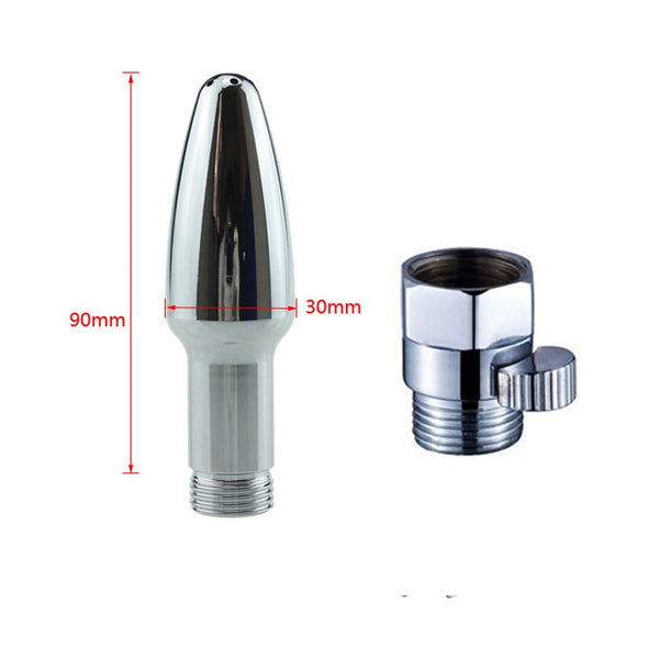 Stainless Steel Butt Plug Type Enema Shower head conector