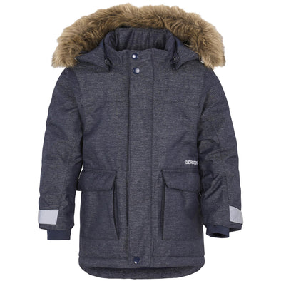 Didriksons Kure Kids Parka Jacket | Dark Denim