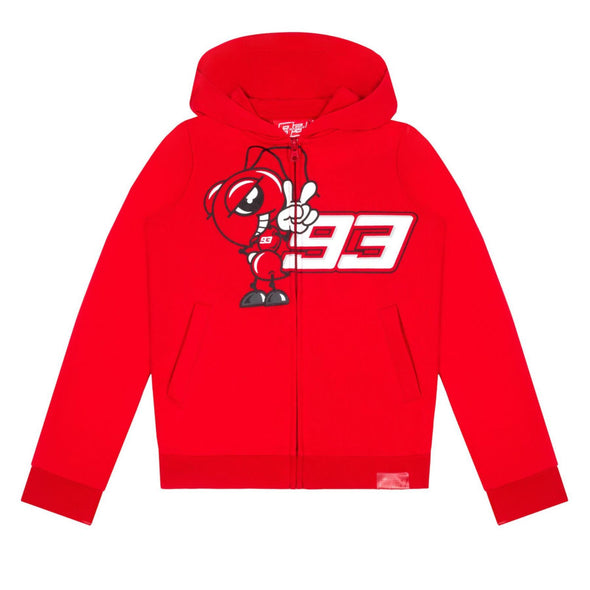 Marc Marquez Kids Full Zip Hoodie | Red | 2020