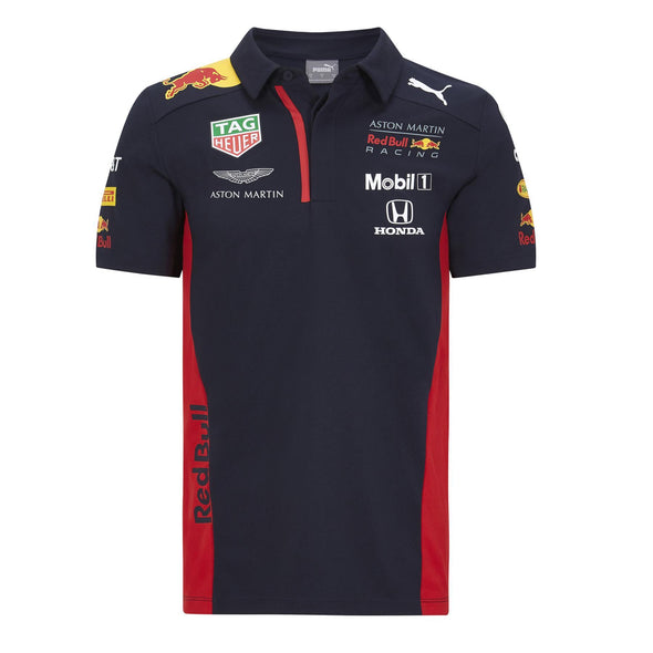 Aston Martin Red Bull Racing Kid's Puma Replica Team Polo Shirt | Navy | 2020