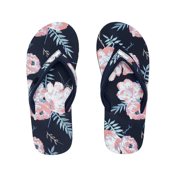 Animal Womens Swish Slim Upper AOP Flip Flops | India Ink Blue