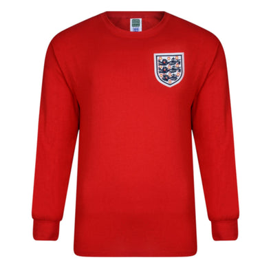 England Football 1966 World Cup Final Retro Away Shirt | Red | Adult | No 6
