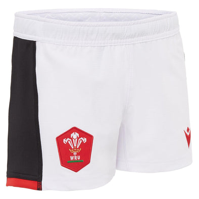 Macron Wales Rugby Kids Alternate Replica Shorts | White/Black | 2020/21